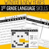 New Years and Winter Grammar Worksheets