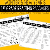 New Years and Winter Reading Comprehension Passages and Questions