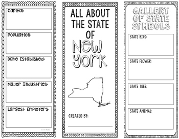 New York - State Research Project - Interactive Notebook - Mini Book