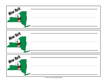 New York Cartoon Name Plates for Desk or Table
