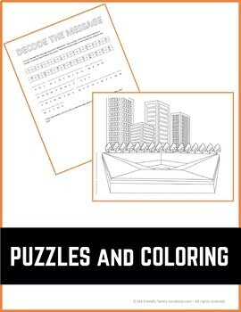 New York City - 9/11 Memorial - History, Fun Facts, Coloring Page & Puzzle