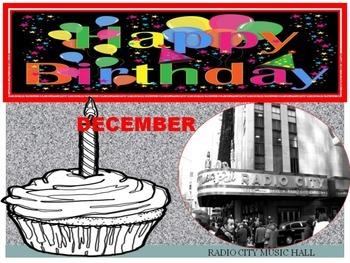 New York City Birthday Display Calendar