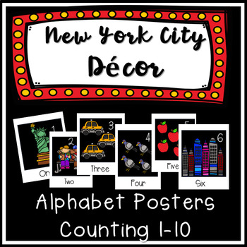 Counting 1-10 posters New York City Classroom Decor Alphabet posters