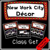 Classroom Themes Decor Bundle New York City