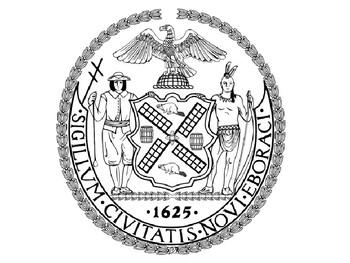 New York City Coloring Seal
