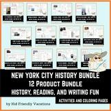 New York City History Bundle - History, Fun Facts, Colorin