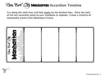 New York City: Manhattan Interactive Notebook Activities with Test Prep