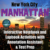 New York City: Manhattan Interactive Notebook Activities with Test Prep