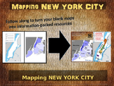 New York City Map Activity - fun, engaging, follow-along 25-slide PPT