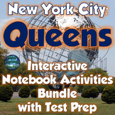 New York City: Queens Interactive Notebook & Lapbook Activities with Test Prep