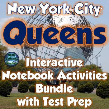 New York City: Queens Interactive Notebook & Lapbook Activities with Test Prep
