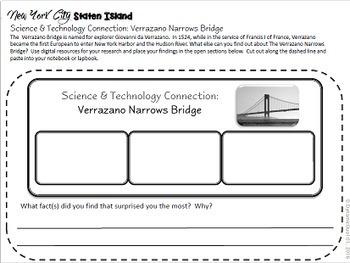 New York City: Staten Island Interactive Notebook Activities with Test Prep