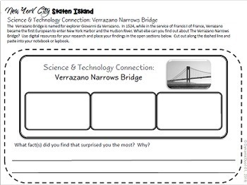 New York City: Staten Island Interactive Notebook Activities with Test Prep