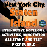 New York City Staten Island Lesson Plans & Interactive Notebook MEGA Bundle