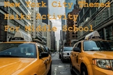 New York City Themed Haiku Activity For Middle School