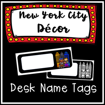 New York City Themed Name Tags