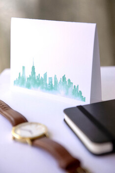New York Clip Art Watercolor Fashion Clipart Travel Clipart NYC Skyline Taxi