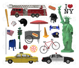 New York Clipart - Big Apple Digital PNG Graphics