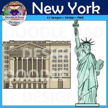 New York City Clipart (Skyscraper, City, Building, Statue of Liberty, empire)