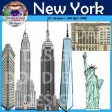 New York City Clipart (Skyscraper, City, Building, Statue