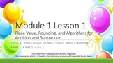 4.1.A Math Module 1 Topic A Engage NY 4th Fourth Grade PowerPoint New York