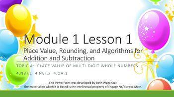 4.1.A Math Module 1 Topic A Engage NY 4th Fourth Grade Pow