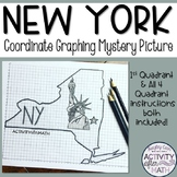 New York Coordinate Graphing Picture 1st Quadrant & ALL 4 Quadrants