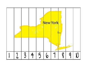 New York Counting Puzzle Map