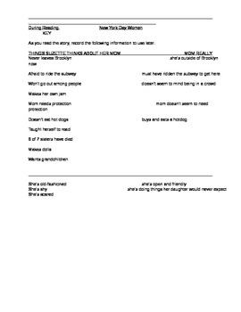 New York Day Woman Comprehension Questions