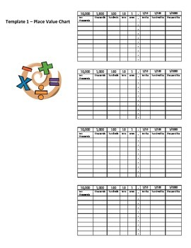 New York Engage 5th grade Math Module 1 Lesson 1 Place Value Template