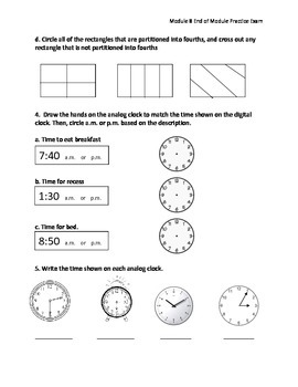 New York Engage Math Grade 2 Module 8 End of Module Exam Practice