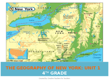 The Geography of New York Unit Powerpoint Lessons (2016)
