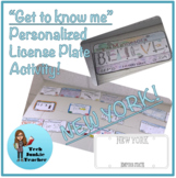 New York Get to Know Me License Plate Activity