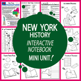 New York History Interactive Notebook New York State Study Unit + AUDIO!