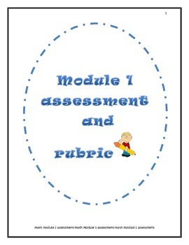 New York Math Module 1-5th grade {unit assessment AND rubric}