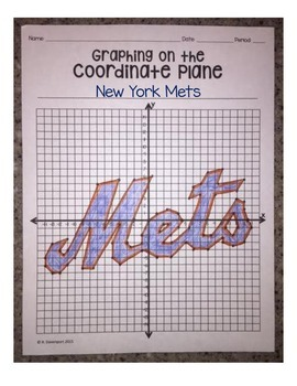 New York Mets (Coordinate Graphing Activity)