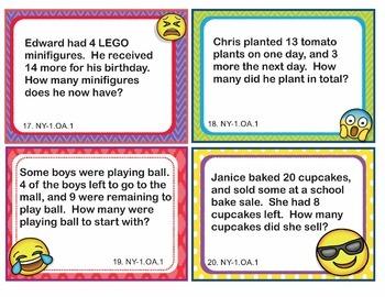 New York NY-1.OA #1-8 Math Task Cards BUNDLE - 200 Task Cards