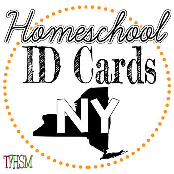 New York (NY) Homeschool ID Cards for Teachers and Students