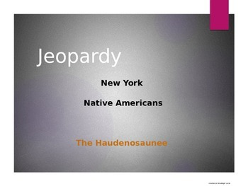 New York Native American Jeopardy Game