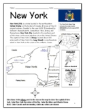 New York - Printable Geography Worksheet / Interactive Notebook Activity