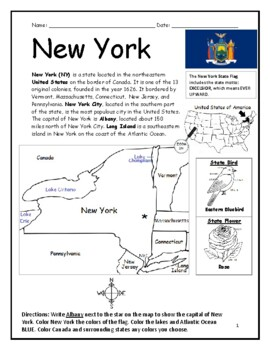 new york printable geography worksheet by interactive. Black Bedroom Furniture Sets. Home Design Ideas
