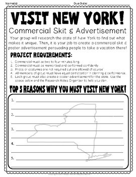New York Project: Create a Commercial! {State of New York Research Project}