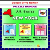 New York Puzzle BUNDLE - Word Search & Crossword Activities - US States - Google