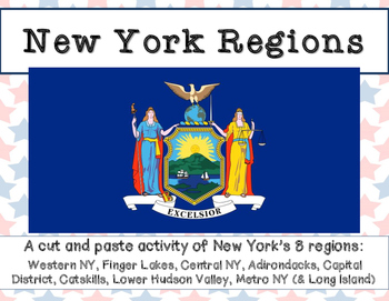 New York Regions: A cut and paste activity