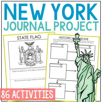 NEW YORK History Guided Research Project, Notebook Journal Pages {EDITABLE}