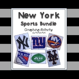New York Sports Bundle - a Coordinate Plane Graphing Activity