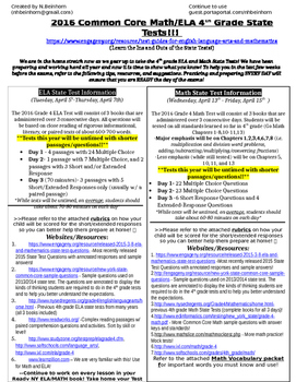 New York State 3-8 State Test Resource for Students and Parents!