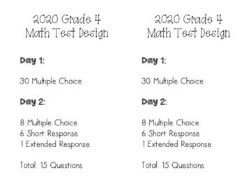 New York State 4th Grade Math Assessment Test Structure 2018