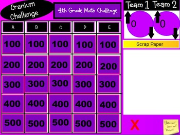 New York State 4th Grade Math Test Prep - Cranium Challenge Game