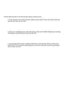 New York State 5th Grade Math Mid-Module Module 2 Review Worksheet